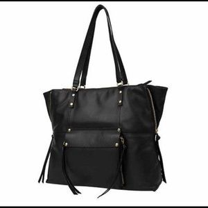 KOOBA Large Black Leather Tote NEW
